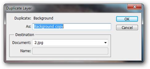 sử dụng chức năng Duplicate Layer