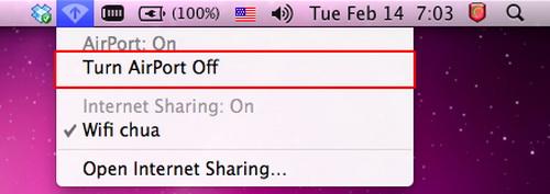 Biến Mac thành trung tâm phát sóng WiFi