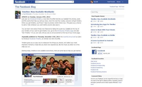 Quản lý Facebook Timeline