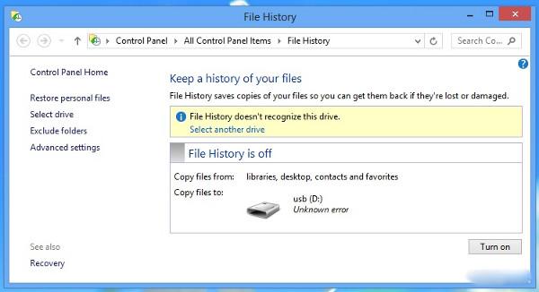 Windows RT: Thủ thuật tạo USB Recovery, thiết lập sao lưu dữ liệu