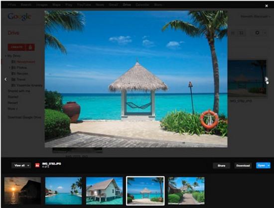 Google Drive bổ sung tính năng xem trước tập tin