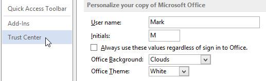 Cách mở các file bị khoá trong Office 2013