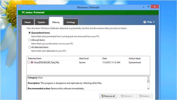 """Thêm lệnh """"Scan with Windows Defender"""" vào menu chuột phải"""