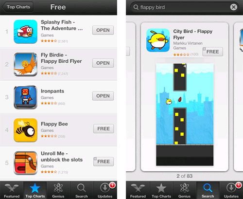 """Bùng nổ các trò chơi """"ăn theo"""" Flappy Bird"""