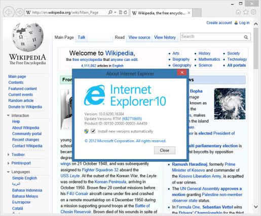 Microsoft đưa công cụ khắc phục lỗ hổng bảo mật trên IE 9, 10