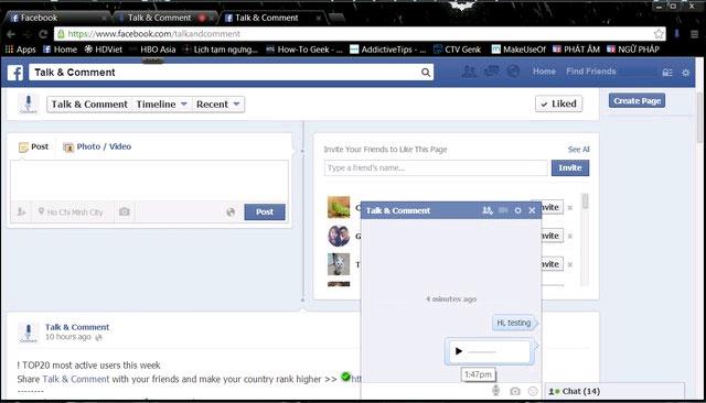Mẹo gửi tin nhắn, bình luận trên facebook bằng... âm thanh