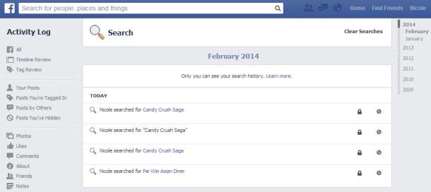 Làm sao để xóa lịch sử tìm kiếm trên Facebook