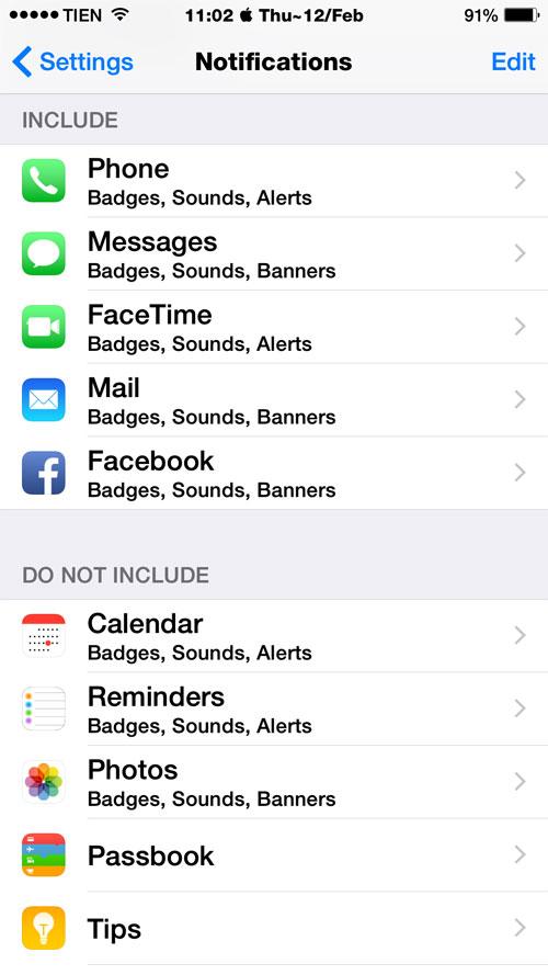 Hướng dẫn cài đặt trong Settings iOS 8 để tiết kiệm pin cho iPhone