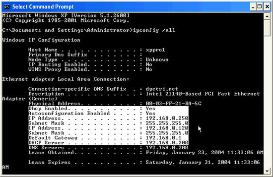 Configure 9 Cấu hình TCP/IP để sử dụng DHCP và địa chỉ IP tĩnh cùng lúc
