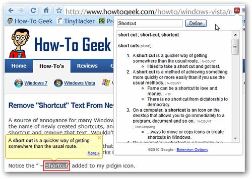 Thêm chức năng Google Dictionary cho Chrome - Quantrimang com