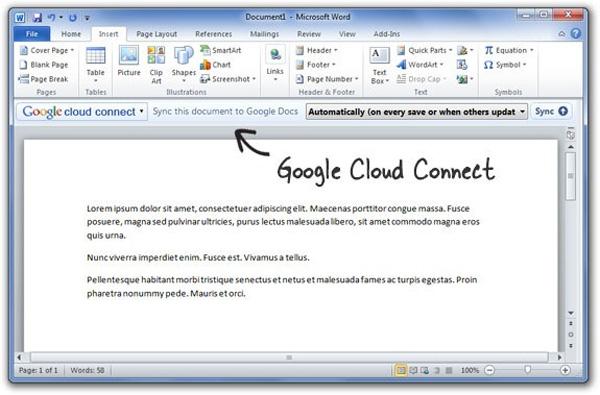 Sử dụng Microsoft Office cùng với Google Docs