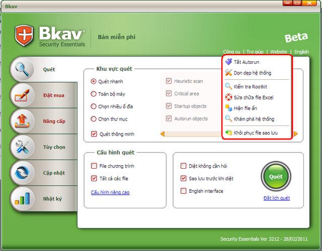 Tải phần mềm diệt virus Bách Khoa (Bkav SE) miễn phí BkavSE