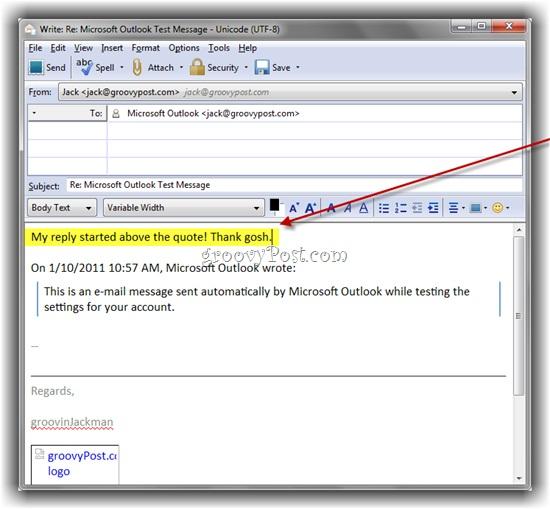 Trả lời email trong Thunderbird với nội dung trích dẫn - quote ở trên