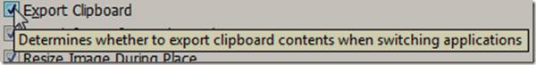 Chọn Export Clipboard