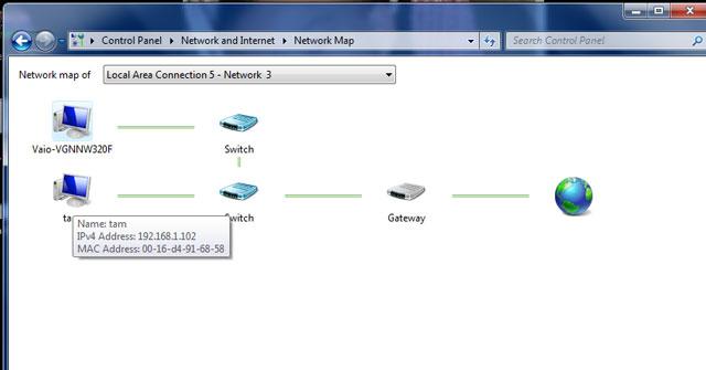 Danh sách thiết bị trong mạng LAN
