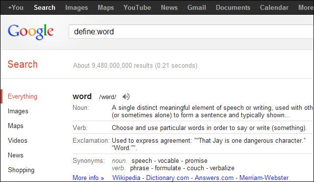 Tìm theo định nghĩa