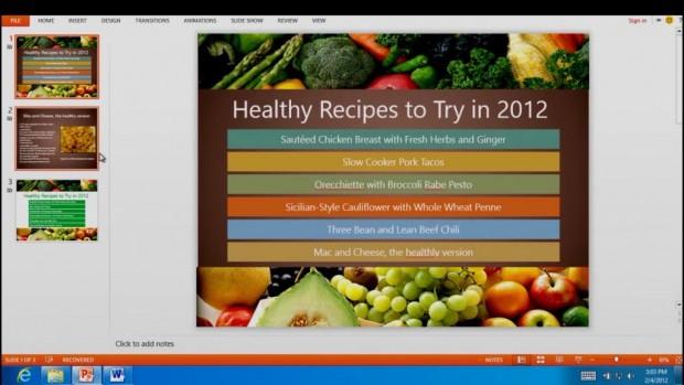 Màn hình ứng dụng One Note của Office 15 trên Windows 8
