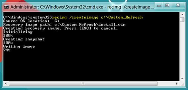 Tạo điểm Refresh trên Windows 8