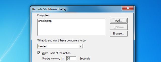 hộp thoại shutdown