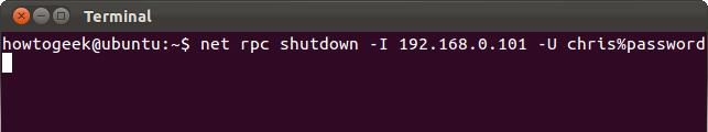 shutdown trên Linux