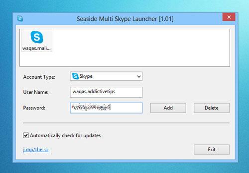 Đăng nhập nhiều tài khoản Skype một lúc trên Windows