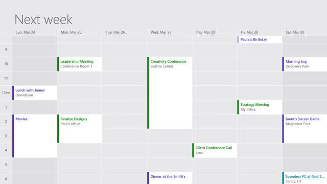 Microsoft sắp có bản cập nhật cho Mail, Calendar và People vào 02/04