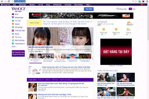 Yahoo thay đổi giao diện trang chủ