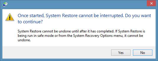 Tạo điểm sao lưu và phục hồi trong Windows 8.1