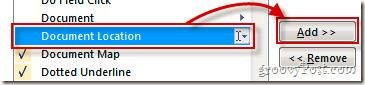 Hiển thị đường dẫn file đầy đủ trên toolbar Quick Access