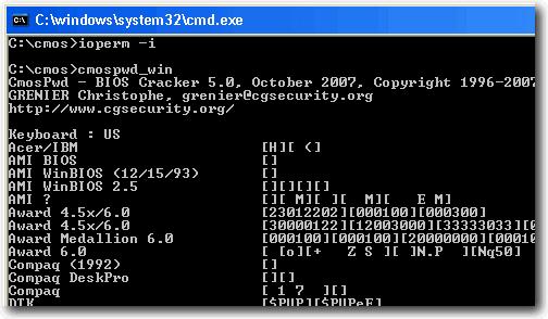 Những công cụ giúp khôi phục mật khẩu BIOS