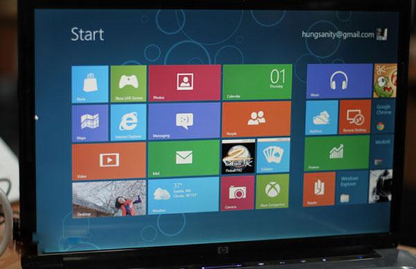 Những lỗi phổ biến trên Windows 8 CP