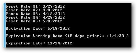 Chạy file ActivationDates_RunMe.bat