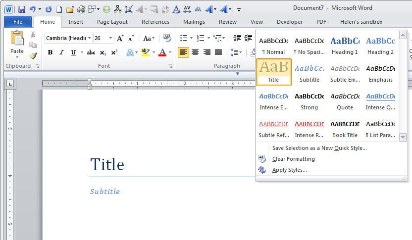 Tự tạo ebook bằng Microsoft Word