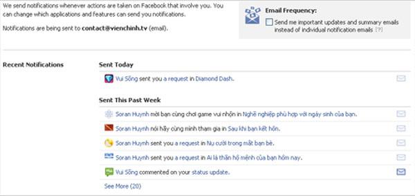 Chặn mail rác gửi từ Facebook