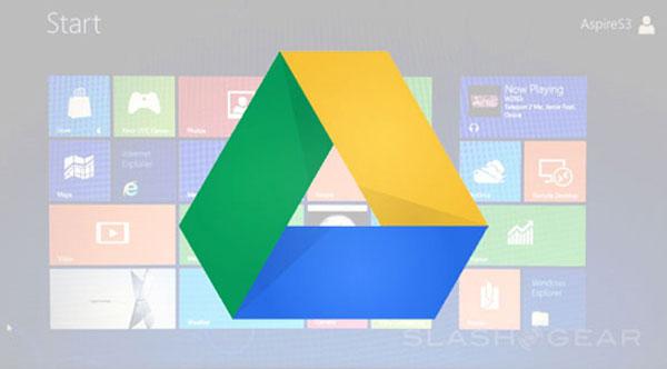 Google Drive được tích hợp vào Windows 8