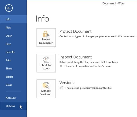 Bỏ qua tùy chọn nơi lưu trữ tập tin trong Office 2013