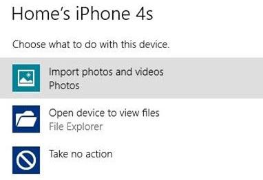 Sao chép ảnh từ iDevice tới máy tính sử dụng Windows 8