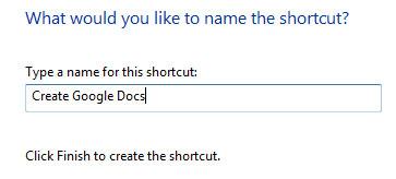 Shortcut tạo văn bản mới trên desktop
