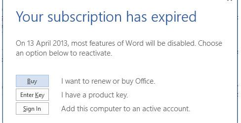 Cách mở rộng thời gian dùng thử Office 365/2013 lên 6 tháng