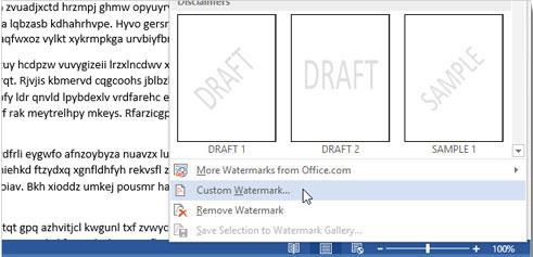Cách chèn chữ, logo chìm vào Microsoft Word 2013
