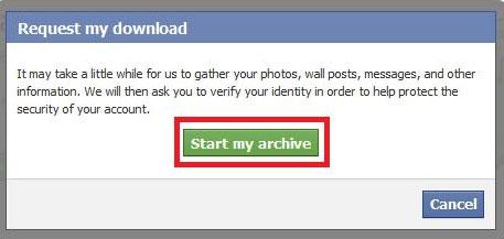 Cách sao lưu dữ liệu Facebook về máy tính