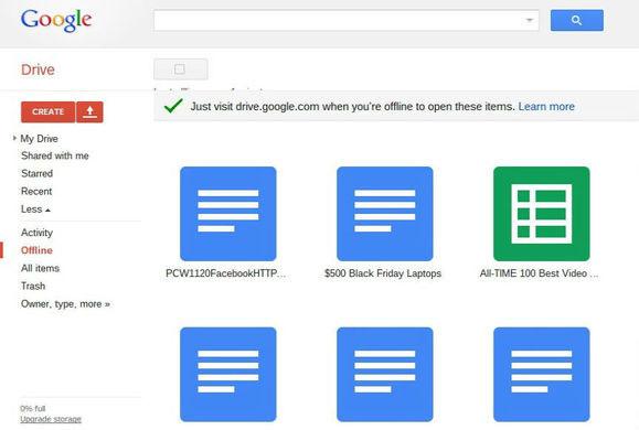 Google bổ sung tính năng đồng bộ Offline cho Google Drive trên Chrome