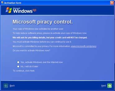Trojan mạo nhận phần mềm kích hoạt Windows