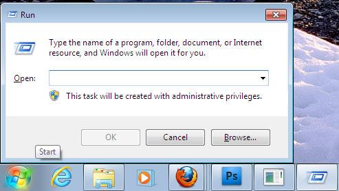 Các lá»nh chạy ứng dụng có sẵn trong Windows