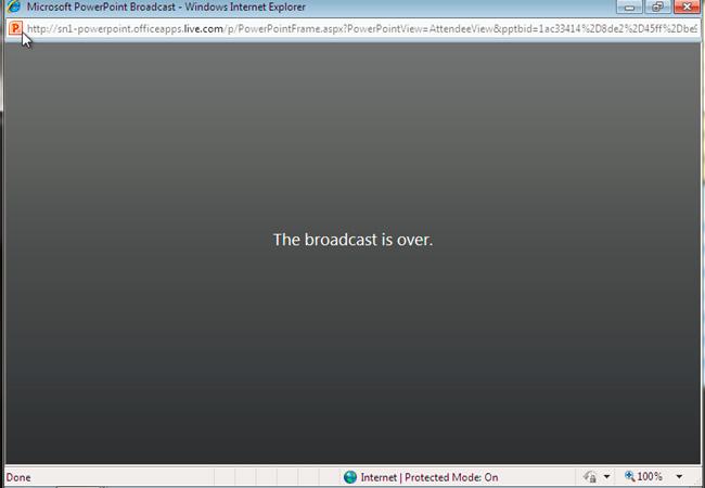 Chia sẻ file trình chiếu PowerPoint 2010 qua Internet