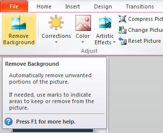 Hướng dẫn xóa bỏ ảnh nền bằng PowerPoint 2010