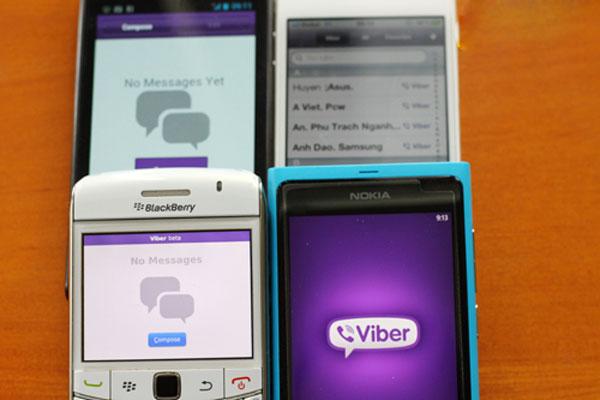Viber có ứng dụng cho BlackBerry và Windows Phone