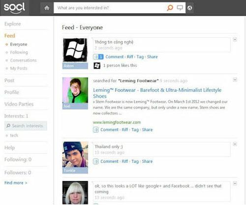 Chính thức ra mắt SO.CL - Mạng xã hội và tìm kiếm cho sinh viên của Microsoft