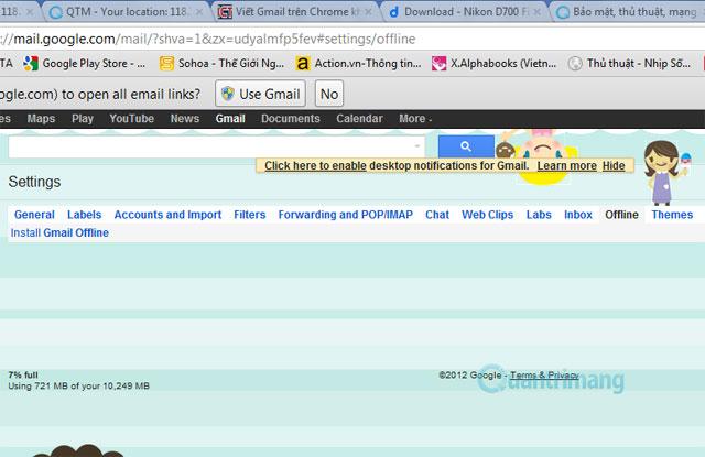 Viết Gmail trên Chrome không cần Internet