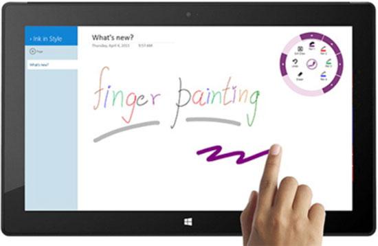 Vẽ bằng ngón tay trên thiết bị chạy Windows